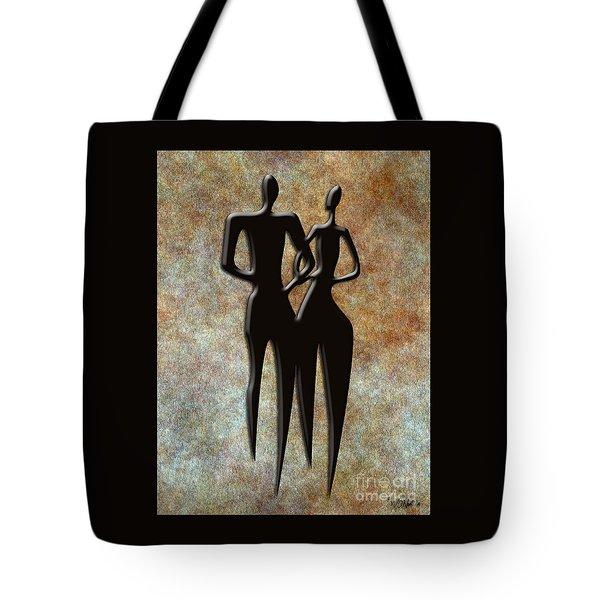 2 People Tote Bag