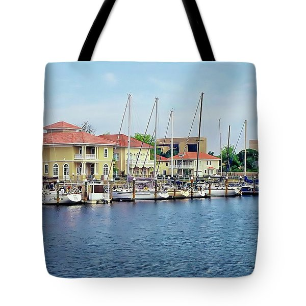 Tote Bag featuring the photograph Port Royal by Anthony Dezenzio