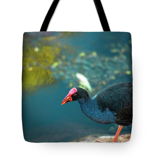 Tote Bag featuring the photograph Purple Swamphen by Rob D Imagery
