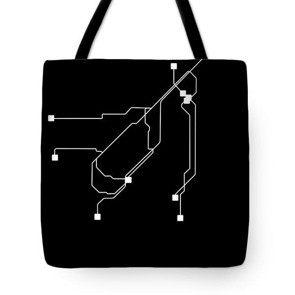 San Francisco Black Subway Map Tote Bag