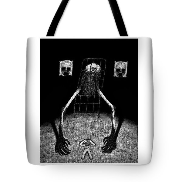 Tote Bag featuring the drawing Stanley The Sleepless - Artwork by Ryan Nieves