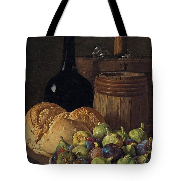 Still Life With Figs And Bread Tote Bag
