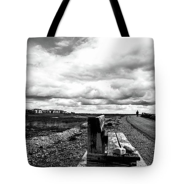 2 Stones On Bench Tote Bag