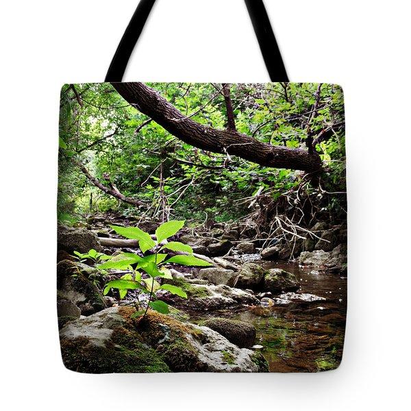 The Bluesy Bubbling Brook Tote Bag