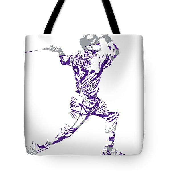 Trevor Story Colorado Rockies Pixel Art 11 Tote Bag