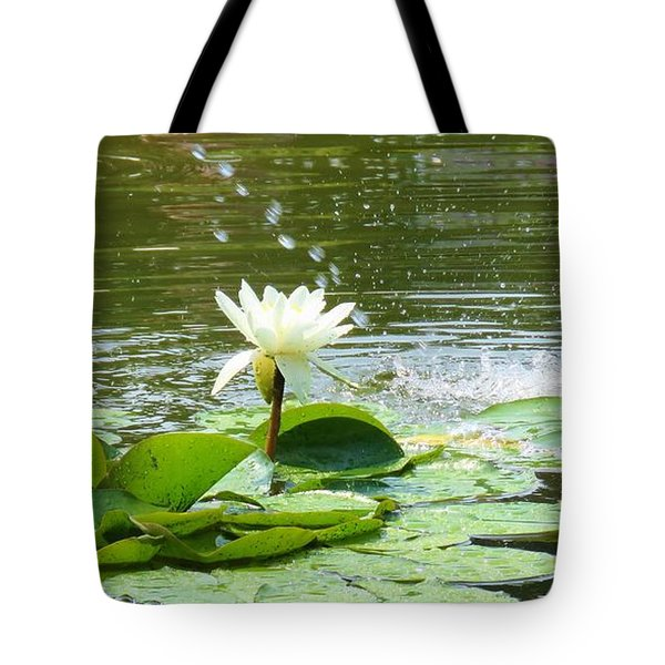 2 White Water Lilies Tote Bag