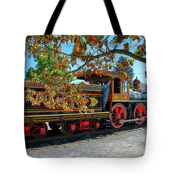 Tote Bag featuring the photograph York 17 Steam Engine by Mark Dodd