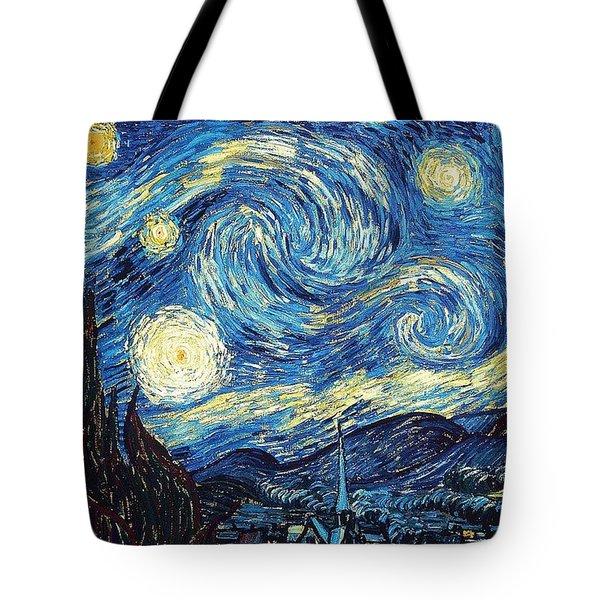 Starry Night By Van Gogh Tote Bag