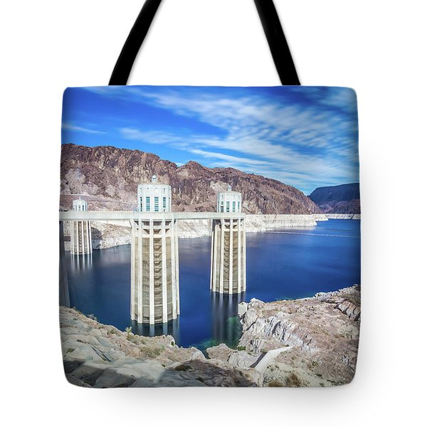 Tote Bag featuring the photograph Wandering Around Hoover Dam On Lake Mead In Nevada And Arizona by Alex Grichenko
