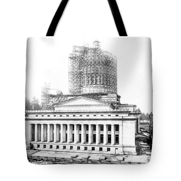 Construction Of The Legislative Building Tote Bag