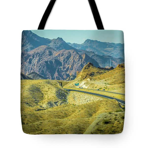 Tote Bag featuring the photograph Red Rock Canyon Landscape Near Las Vegas Nevada by Alex Grichenko