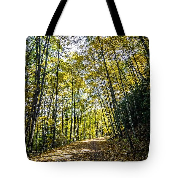 Tote Bag featuring the photograph Scenic Views Along Virginia Creeper Trail by Alex Grichenko