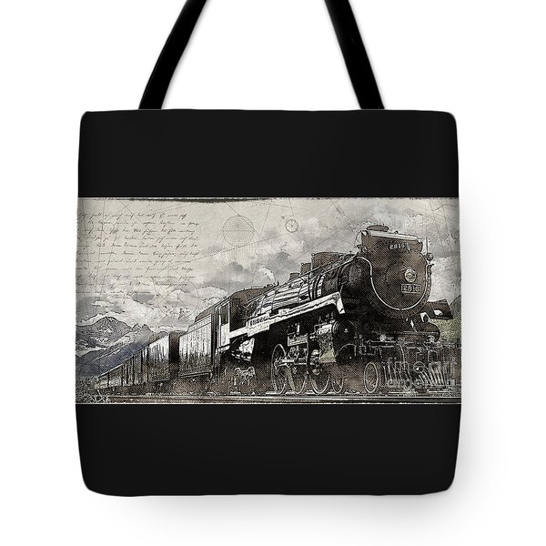 Tote Bag featuring the photograph 2816 At Banff Siding by Brad Allen Fine Art