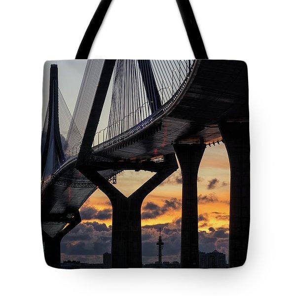 Tote Bag featuring the photograph 1812 Constitution Bridge Cadiz Spain by Pablo Avanzini