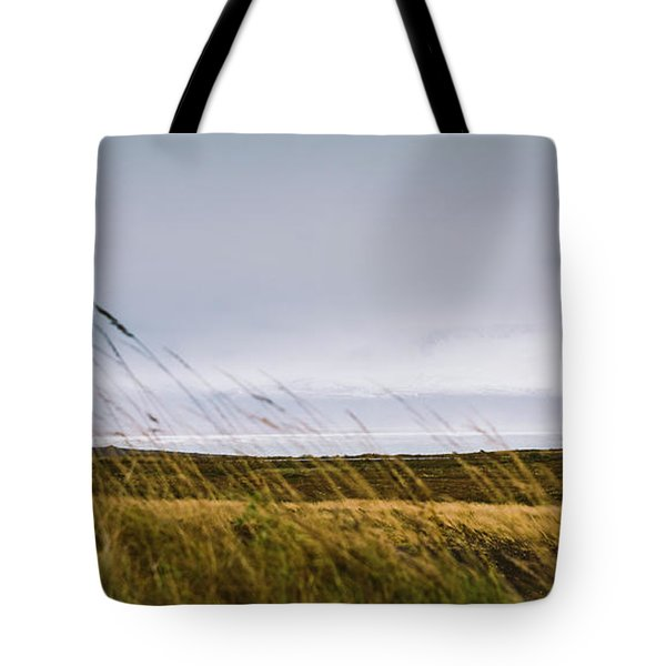 Beautiful Panoramic Photos Of Icelandic Landscapes That Transmit Beauty And Tranquility. Tote Bag