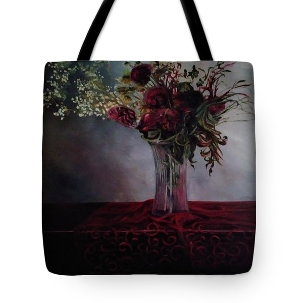 Tote Bag featuring the painting Beauty For Ashes by J Reynolds Dail