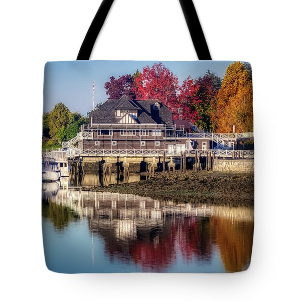 Tote Bag featuring the photograph Colorful Autumn Foliage At Stanley Park by Andy Konieczny