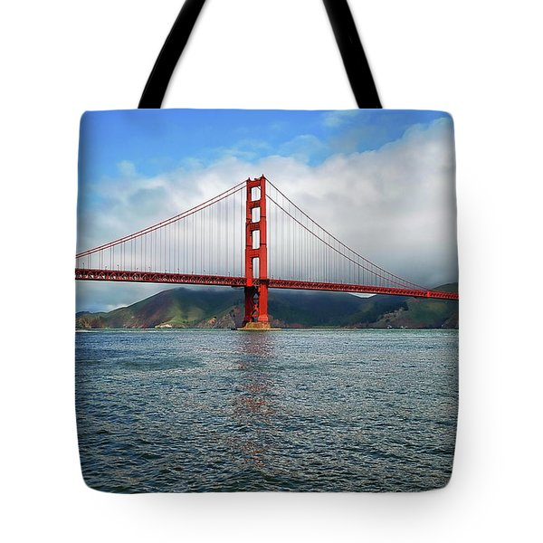 Tote Bag featuring the photograph Golden Gate Bridge by Anthony Dezenzio