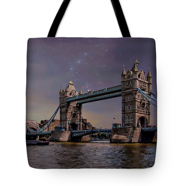 Tote Bag featuring the photograph London Tower Bridge by Anthony Dezenzio