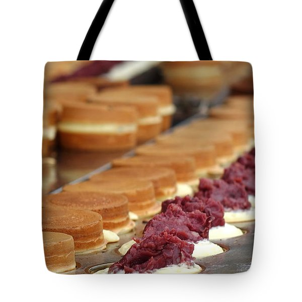 Making Red Bean Cakes Tote Bag