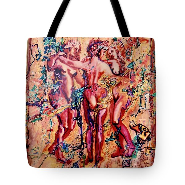 3 Virgins - Rubens, Airbrush 1990 Tote Bag