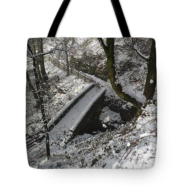 30/01/19  Rivington. Cascade Bridge. Tote Bag
