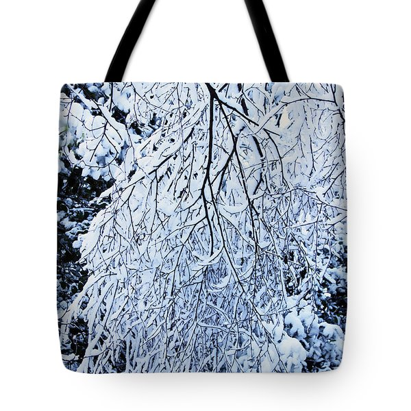 30/01/19  Rivington. Snow Covered Branches. Tote Bag