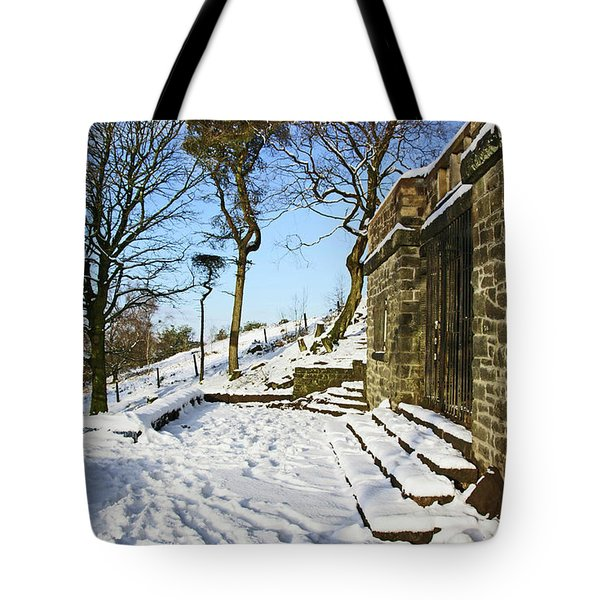 30/01/19  Rivington. Summerhouse In The Snow. Tote Bag