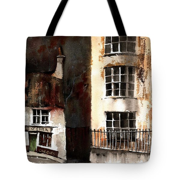 Tote Bag featuring the painting 305 Frys Chochies In Killarney, Co. Kerry by Val Byrne