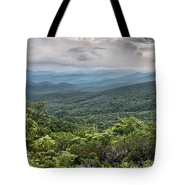 Tote Bag featuring the photograph Rough Ridge Overlook Viewing Area Off Blue Ridge Parkway Scenery by Alex Grichenko