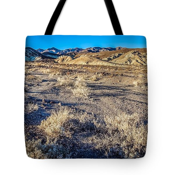 Tote Bag featuring the photograph Death Valley National Park Scenes In California by Alex Grichenko