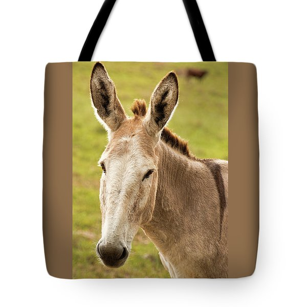 Tote Bag featuring the photograph Donkey Out In Nature by Rob D Imagery