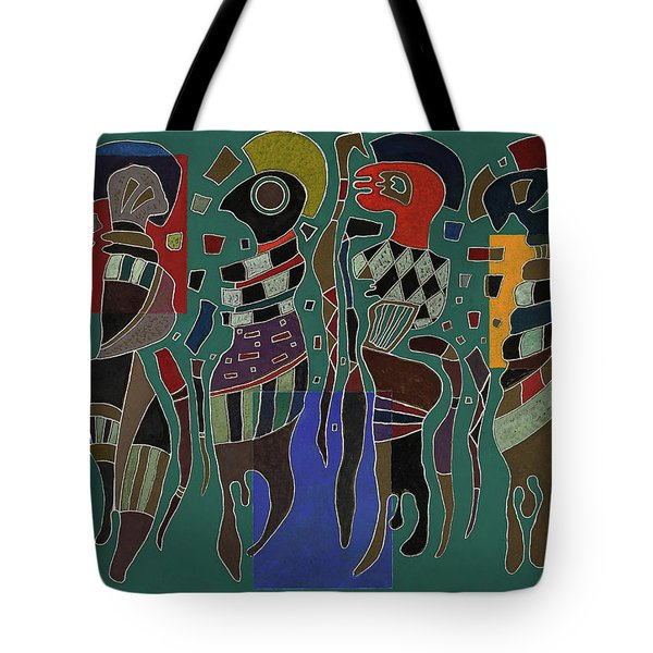 4 Figures On 3 Squares, 1943 Tote Bag