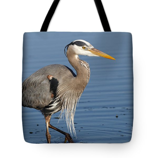 Tote Bag featuring the photograph Great Blue Heron by Sue Harper