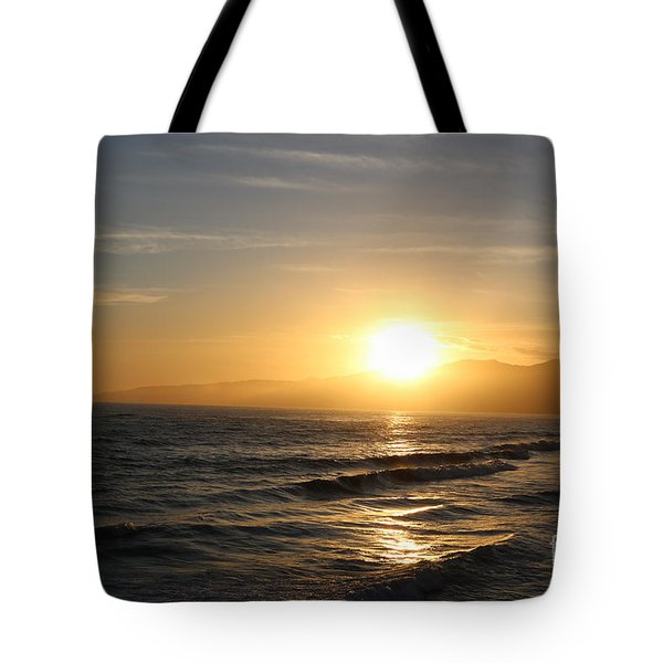 Pacific Sunset , Santa Monica, California Tote Bag