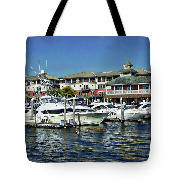Tote Bag featuring the photograph Palafox Pier by Anthony Dezenzio