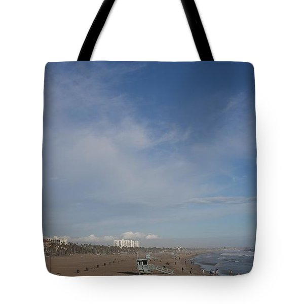 Santa Monica Beach, Santa Monica, California Tote Bag