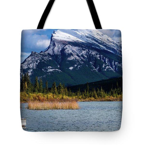 Vermillion Lakes, Banff National Park, Alberta, Canada Tote Bag