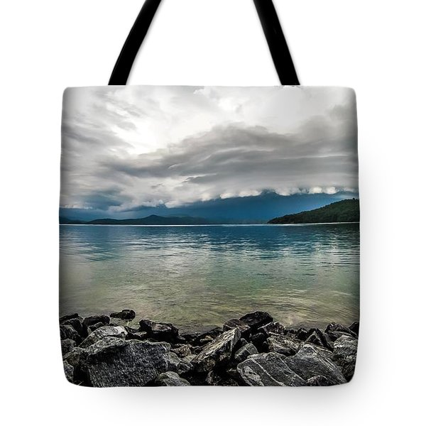 Tote Bag featuring the photograph Scenery Around Lake Jocasse Gorge by Alex Grichenko