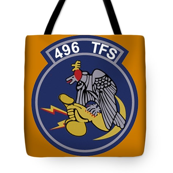 496th Tactical Fighter Squadron  Tote Bag