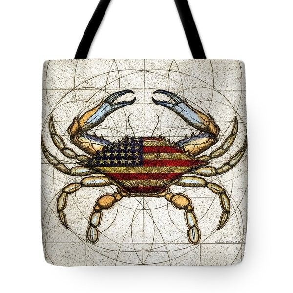 4th Of July Crab Tote Bag