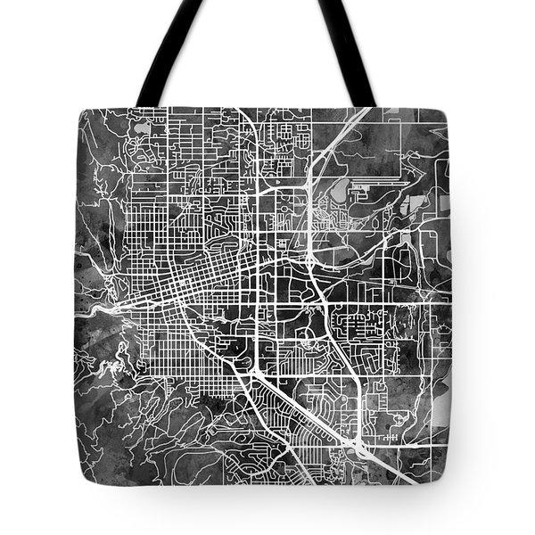 Boulder Colorado City Map Tote Bag