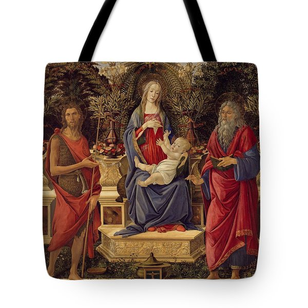 Madonna With Saints Tote Bag