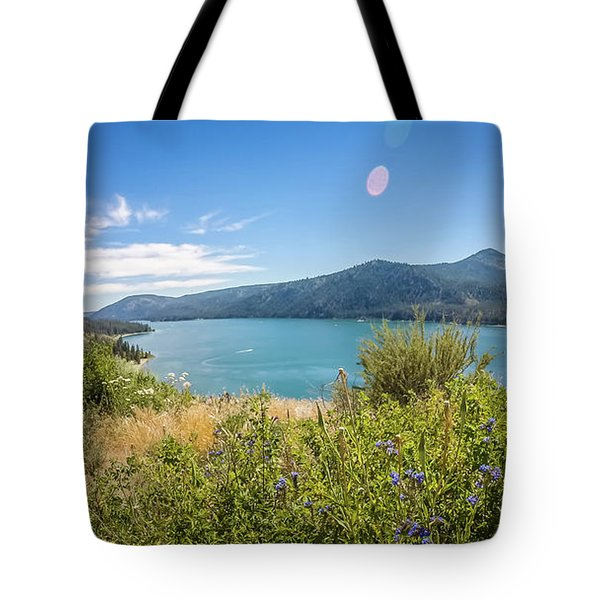 Tote Bag featuring the photograph Nature Scenics Around Spokane River Washington by Alex Grichenko