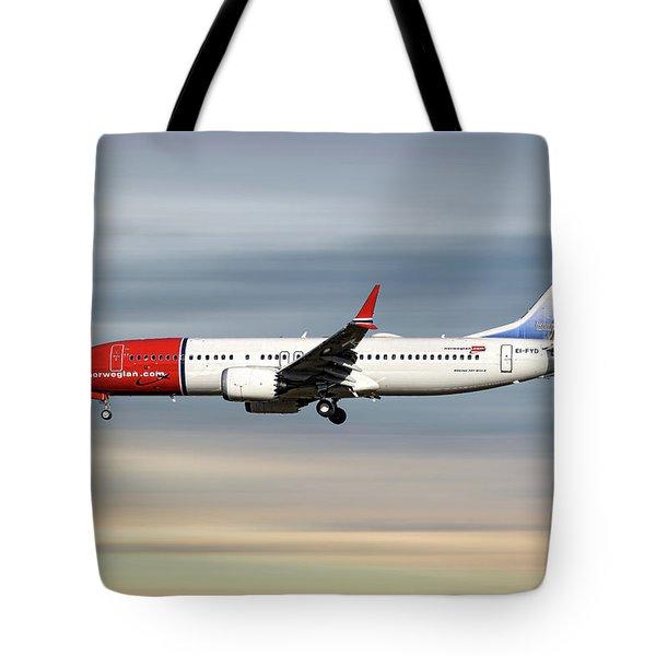 Norwegian Boeing 737 Max 8 Tote Bag