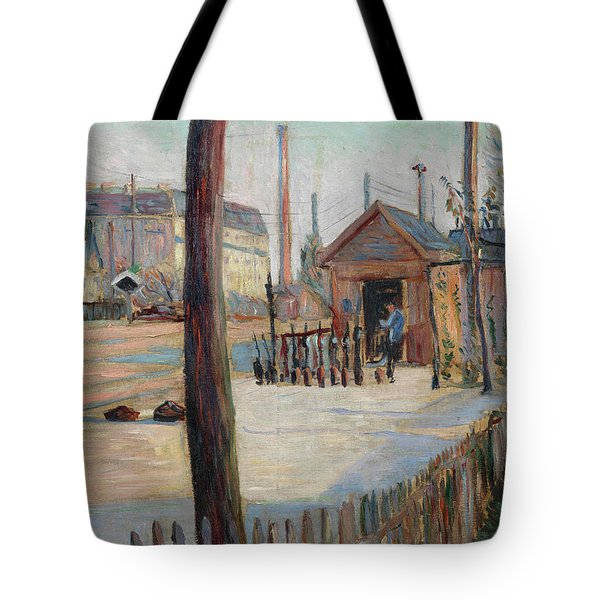 Railway Junction Near Bois-colombes Tote Bag