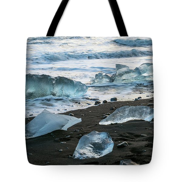 The Diamond Beach, Jokulsarlon, Iceland Tote Bag