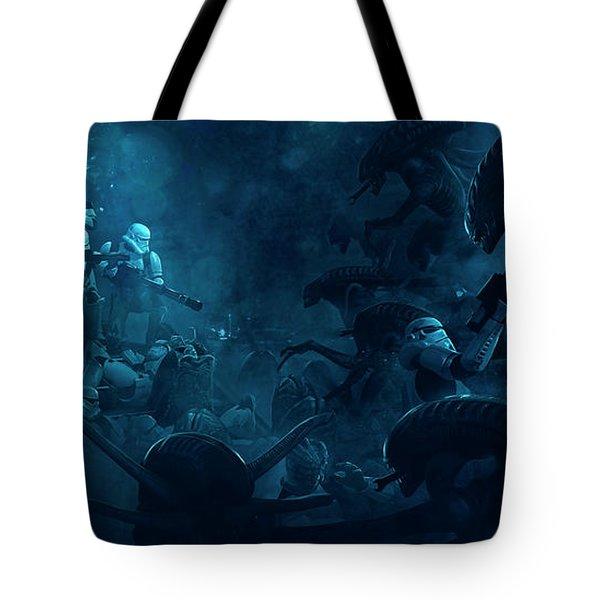 501 Vs Aliens 1 Tote Bag