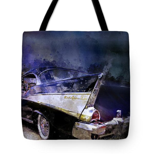 57 Belair Dragon Drivein Date Night Saturday Night Tote Bag