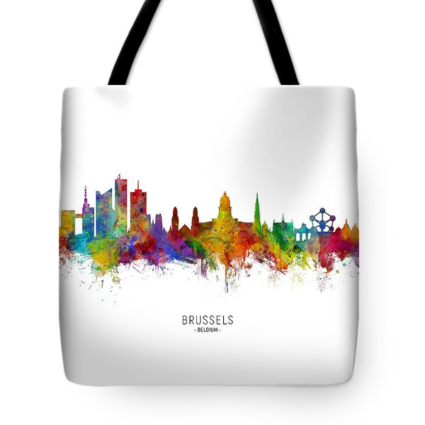 Brussels Belgium Skyline Tote Bag